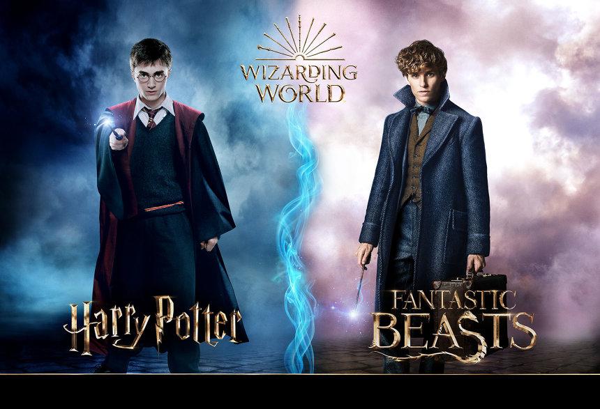 左からダニエル・ラドクリフ演じるハリー・ポッター、エディ・レッドメイン演じるニュート・スキャマンダー Harry Potter and Fantastic Beasts Publishing Rights © J.K.R. © 2018 Warner Bros. Ent. All Rights Reserved.