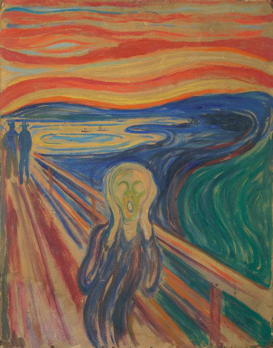 エドヴァルド・ムンク『叫び』1910年? テンペラ・油彩、厚紙 83.5×66cm オスロ市立ムンク美術館所蔵 ©Munchmuseet