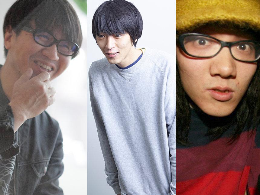 左から鹿野淳(MUSICA)、加藤一陽(音楽ナタリー)、飯田仁一郎(OTOTOY)