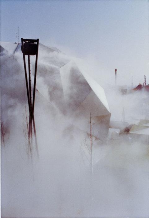 中谷芙二子『ペプシ館』霧の彫刻, #47773, 1970(参考図版) 日本万国博覧会(EXPO '70)会場風景より 撮影:中谷芙二子