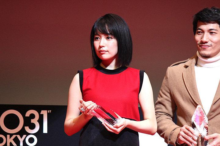 木竜麻生 『第31回東京国際映画祭』授賞式より