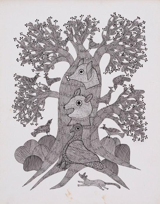 『夜の木』より「飲みすぎにご用心」原画