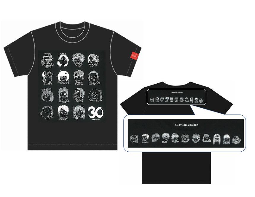 似顔絵Tシャツ黒ビジュアル