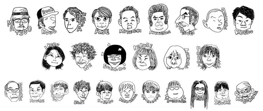 松尾スズキによる似顔絵イラスト