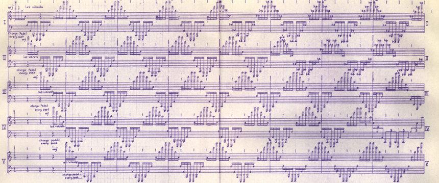 『5台のピアノのための音楽/2台のピアノと4本の管楽器』(ホセ・マセダ作曲、1993/1996)