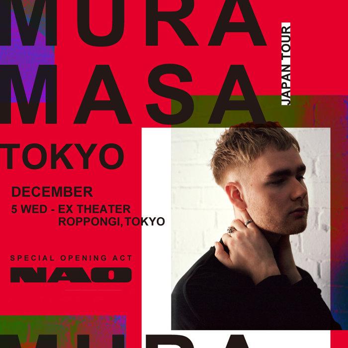 """『""""Japan Tour 2018""""MURA MASA』東京公演ビジュアル"""