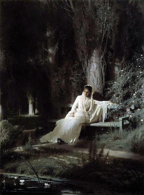 イワン・クラムスコイ 『月明かりの夜』 1880年 油彩・キャンヴァス © The State Tretyakov Gallery