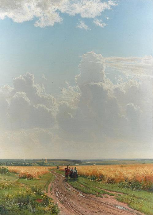 イワン・シーシキン 『正午、モスクワ郊外』 1869年 油彩・キャンヴァス © The State Tretyakov Gallery