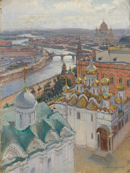 ニコライ・グリツェンコ 『イワン大帝の鐘楼からのモスクワの眺望』 1896年 油彩・キャンヴァス © The State Tretyakov Gallery