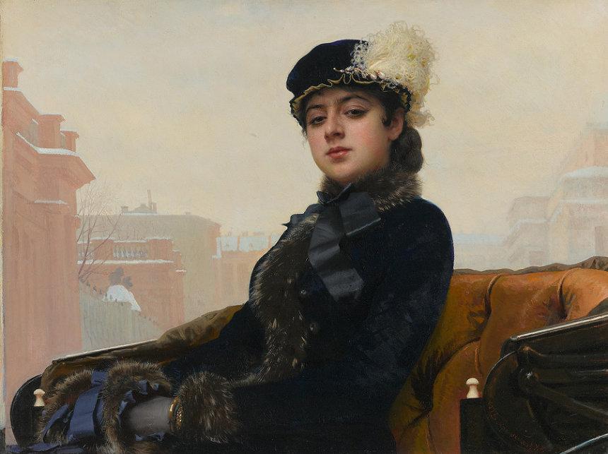 イワン・クラムスコイ 『忘れえぬ女(ひと)』 1883年 油彩・キャンヴァス © The State Tretyakov Gallery