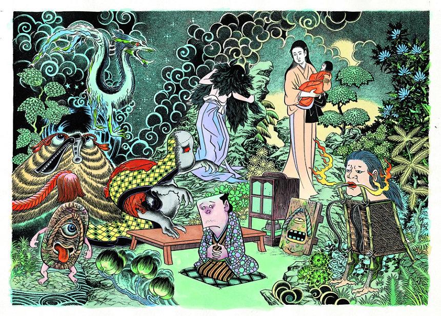 『妖怪たちのいるところ』 ©水木プロ『五 古道具・モノに籠もる霊』より