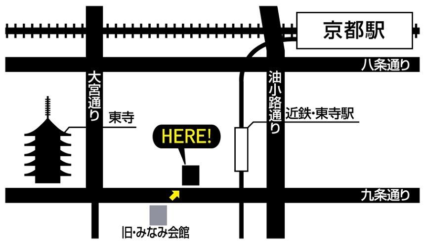京都みなみ会館 移転先地図