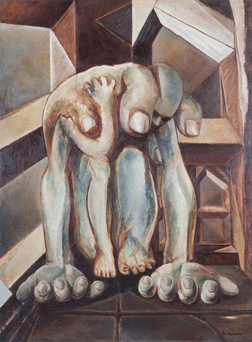 鶴岡政男『重い手』1949