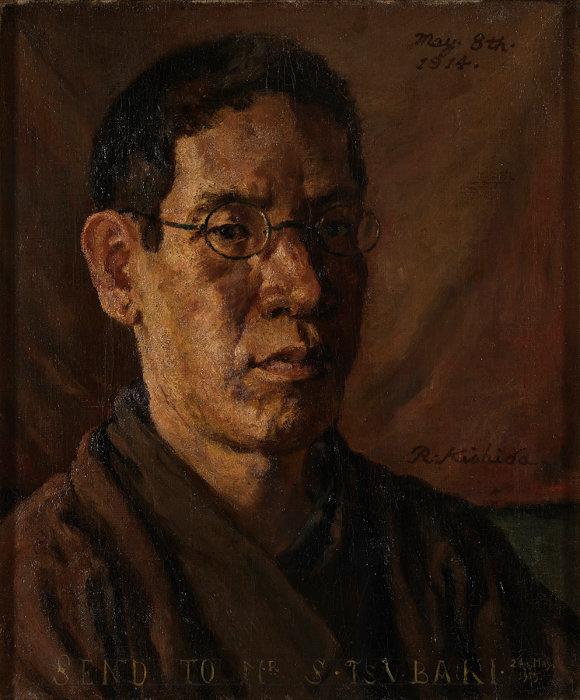 岸田劉生『椿君に贈る自画像』1914