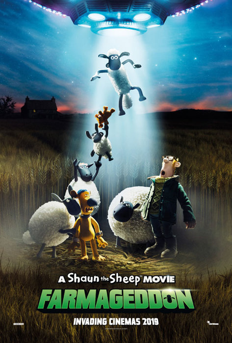 『A Shaun the Sheep MOVIE: FARMAGEDDON(原題)』海外版ポスタービジュアル ©2018 AARDMAN ANIMATIONS LTD AND STUDIOCANAL SAS