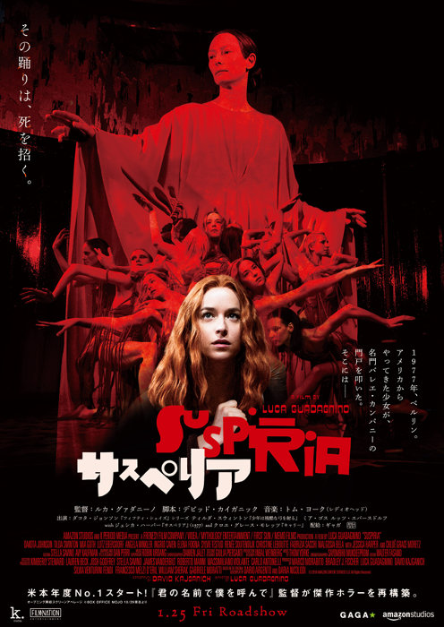『サスペリア』ポスタービジュアル ©2018 AMAZON CONTENT SERVICES LLC All Rights Reserved