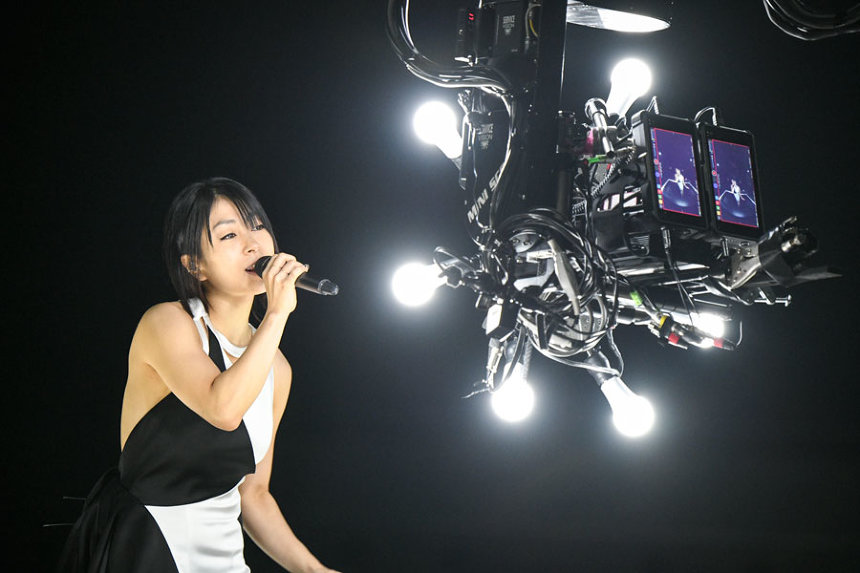 "『Hikaru Utada Laughter in the Dark Tour 2018 -""光""&""誓い""- VR』メイキング ©2018 U3MUSIC/Sony Music Entertainment (Japan) Inc. ©2018 Sony Interactive Entertainment Inc."
