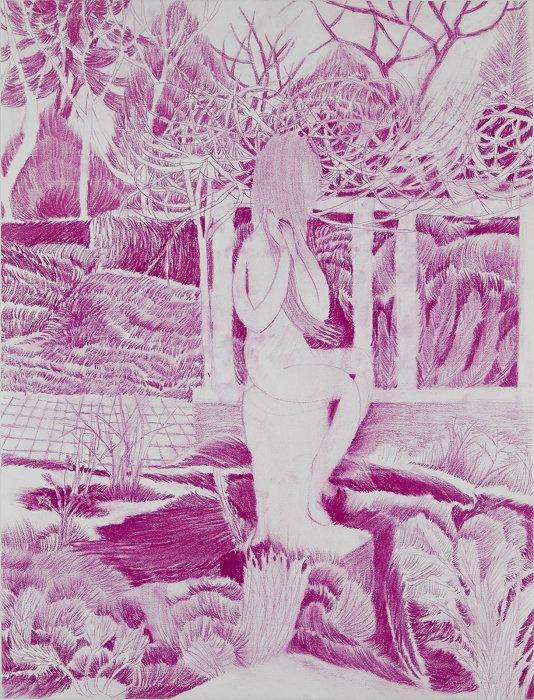 "Kyoko Murase ""park"", 2018, pastel pencil on paper, 65×50cm ©Kyoko Murase / Courtesy of Taka Ishii Gallery"