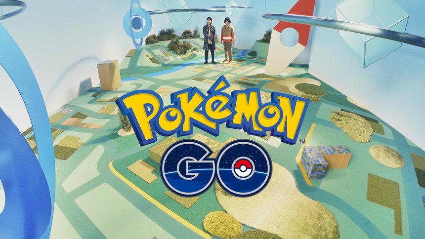 『ポケモン GO』CM「2人でバトル」篇より ©2019 Niantic, Inc. ©2019 Pokémon. ©1995-2019 Nintendo/Creatures Inc. /GAME FREAK inc.