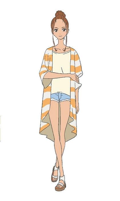 向水ひな子キャラクタービジュアル ©2019「きみと、波にのれたら」製作委員会