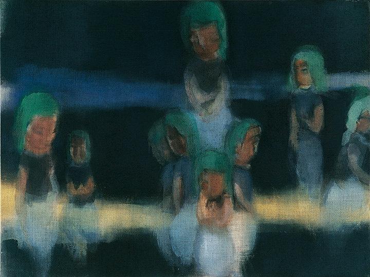 イケムラレイコ『オーシャン III』2000/01年 油彩/ジュート 120x160cm ヒルティ美術財団