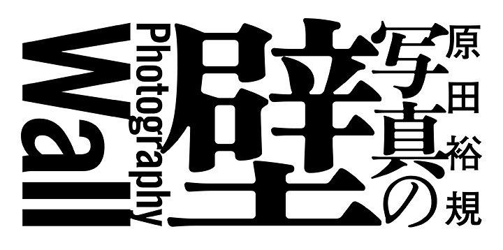 原田裕規『写真の壁:Photography Wall』展ロゴ