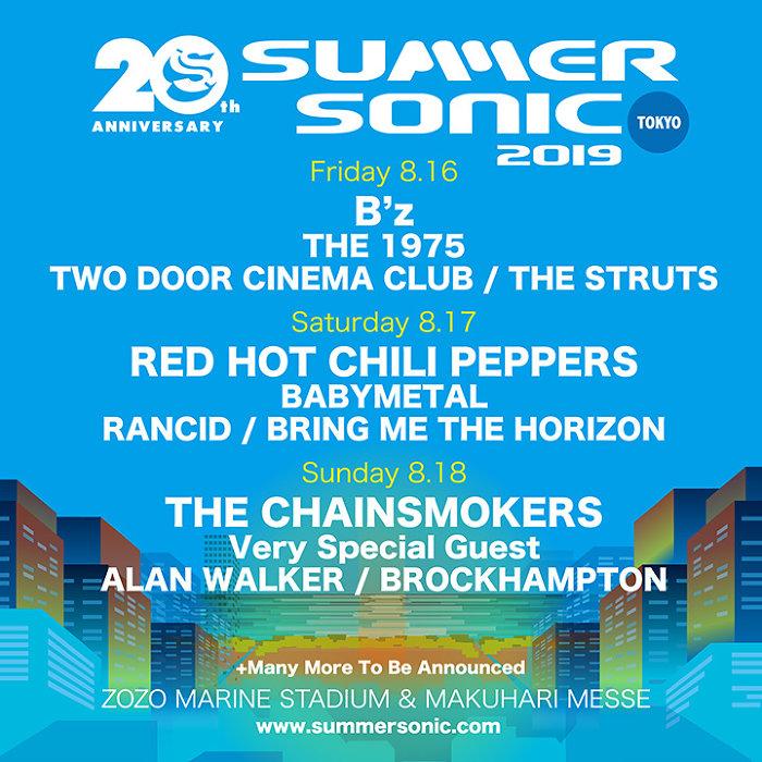 『SUMMER SONIC 2019』東京公演ビジュアル