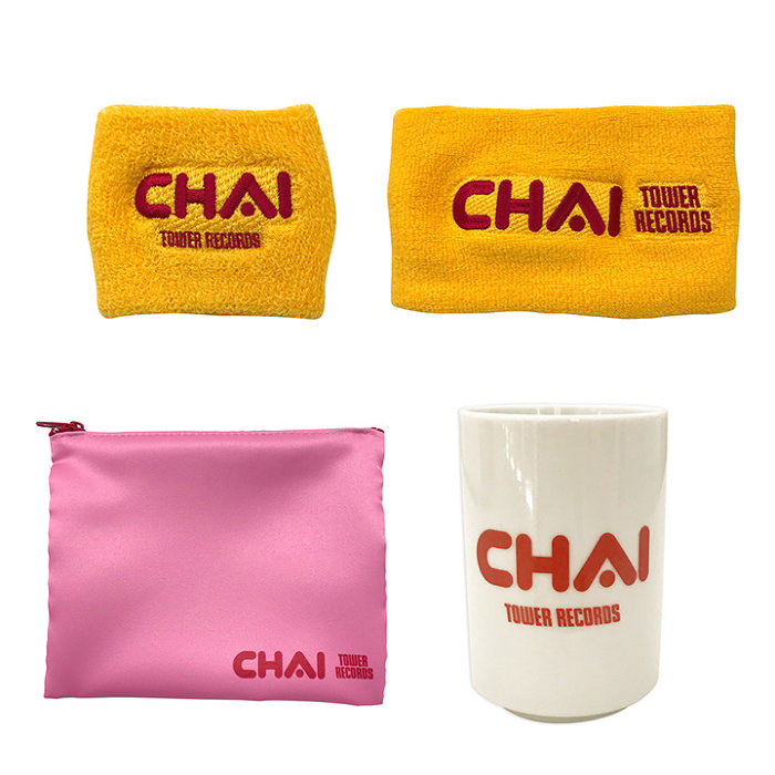 「CHAI × TOWER RECORDS」コラボグッズ