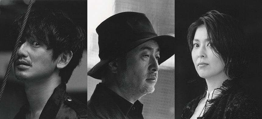 左から瑛太、松尾スズキ、松たか子