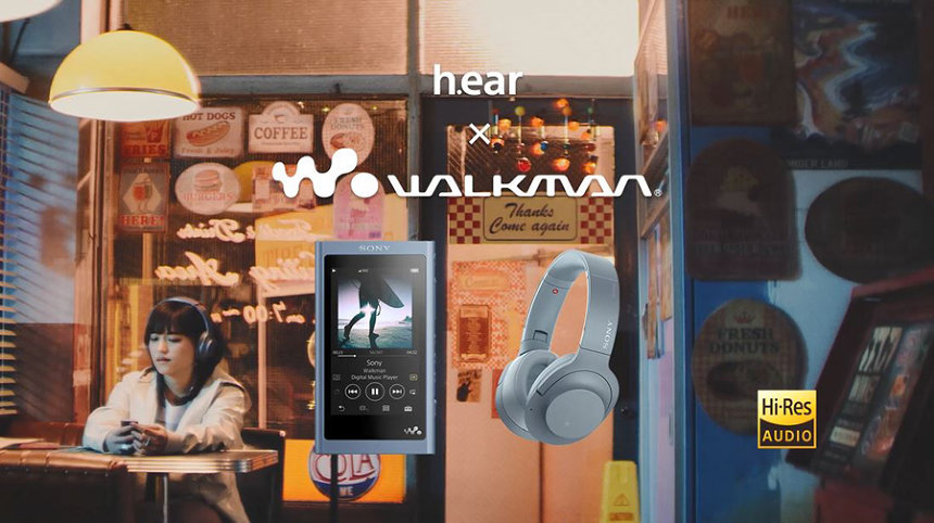 ソニー「h.ear×WALKMAN」CMより