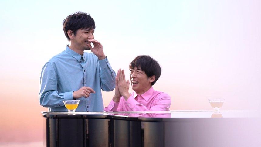 森山直太朗と高橋一生 「キリン 生茶」CM「ピアノ篇」メイキング映像より