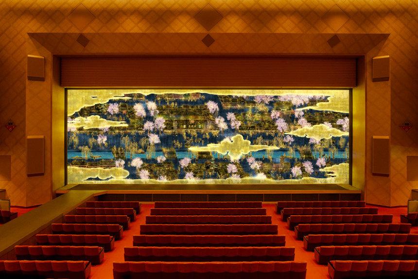 チームラボが創業145周年の明治座の緞帳を制作 時や天候、季節と共に変化