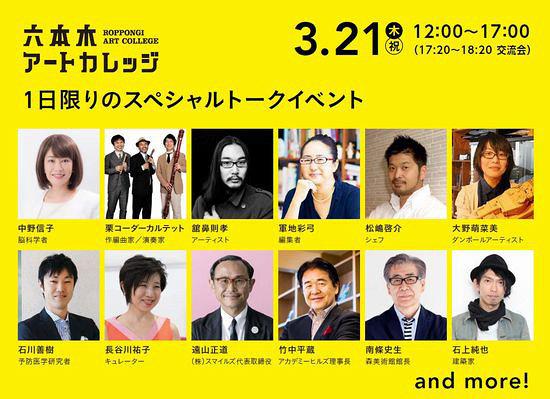 『六本木アートカレッジ スペシャル1DAY』登壇者一覧