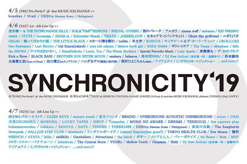 『SYNCHRONICITY'19』ビジュアル