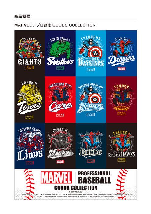 マーベル×プロ野球12球団コラボグッズビジュアル ©2019 Marvel