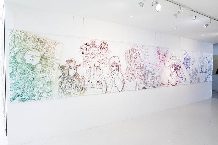 『ラフ∞絵』展の模様