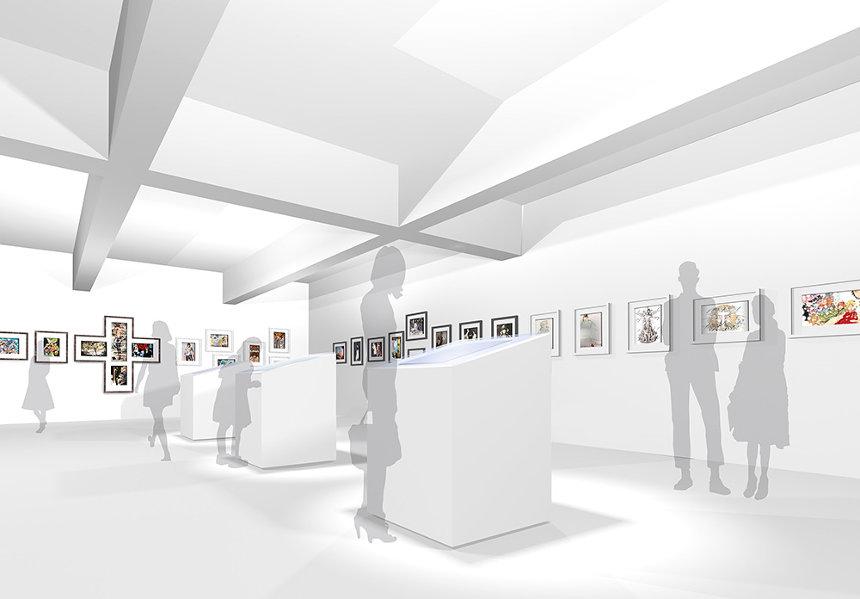 『画業30周年記念 小畑健展 NEVER COMPLETE』ZONE2「Illustration」イメージビジュアル 主催者提供