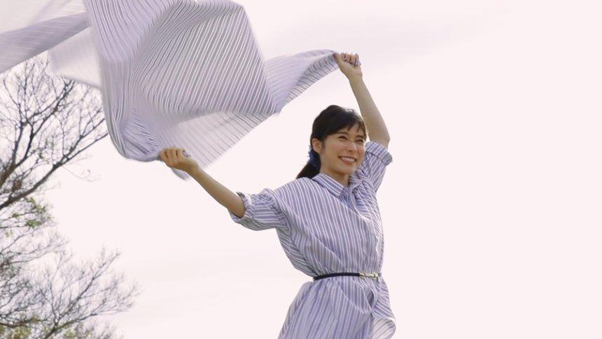 「自由に変わろ。松岡茉優の3変化ムービー 主婦篇」メイキング