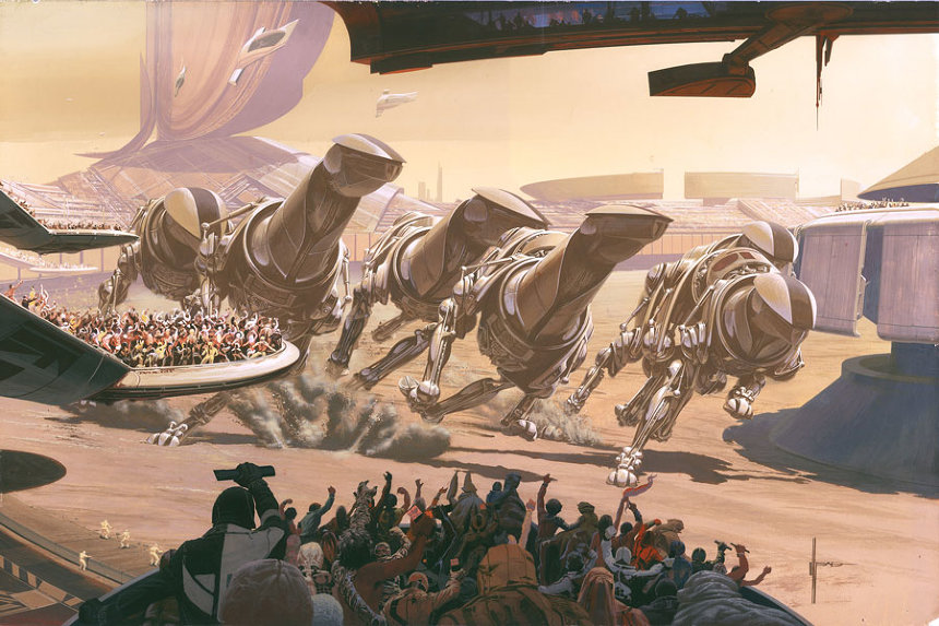 Running of the Six Drgxx ©Syd Mead, Inc