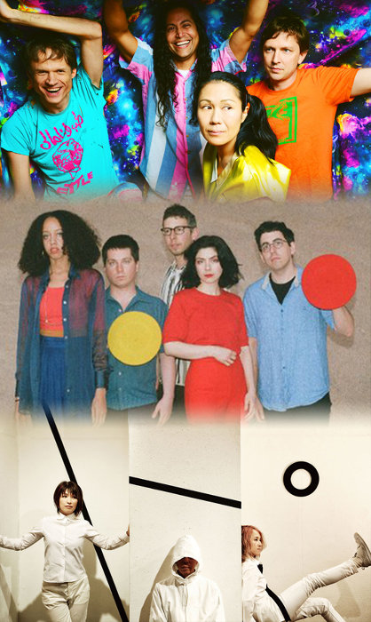 上からDEERHOOF、Ava Luna、Buffalo Daughter