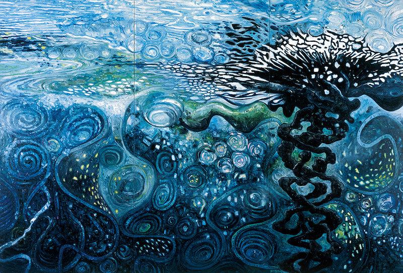 大岩オスカール『見えない海』2010 227×333cm 油彩/キャンバス 作家蔵