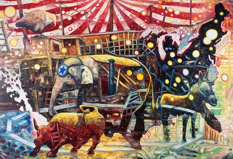 大岩オスカール『大サーカス』2011 油彩/キャンバス 227×333cm 作家蔵