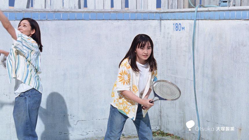 ポカリスエット新CM「プールでテニス」篇より