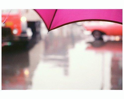 ソール・ライター『薄紅色の傘』1950年代、発色現像方式印画 ©Saul Leiter Foundation