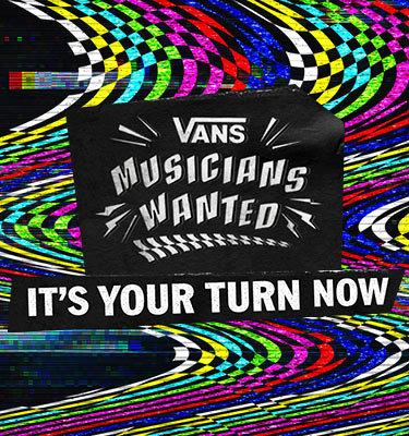 『VANS MUSICIANS WANTED』ビジュアル