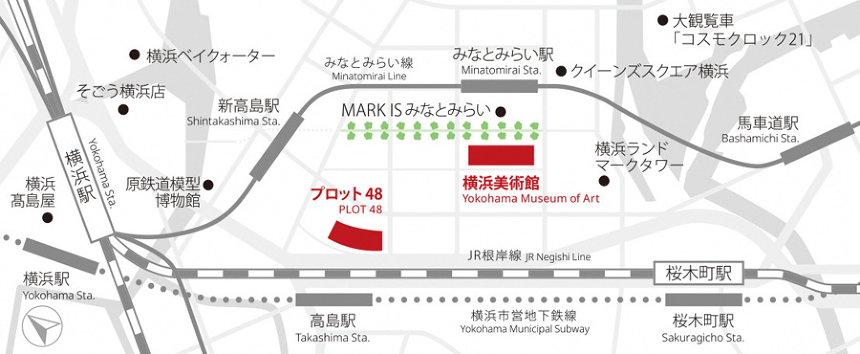 『ヨコハマトリエンナーレ2020』会場マップ