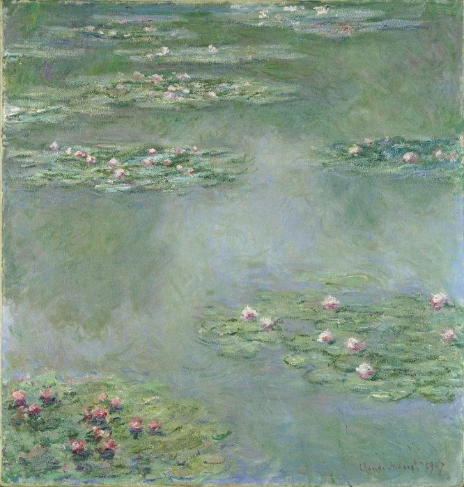 クロード・モネ『睡蓮』1907年 ポーラ美術館蔵