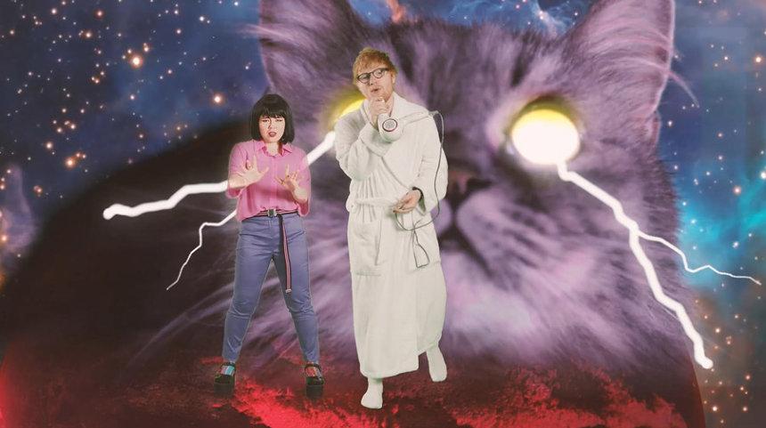 """エド・シーラン&ジャスティン・ビーバー""""I Don't Care""""日本版PVより"""