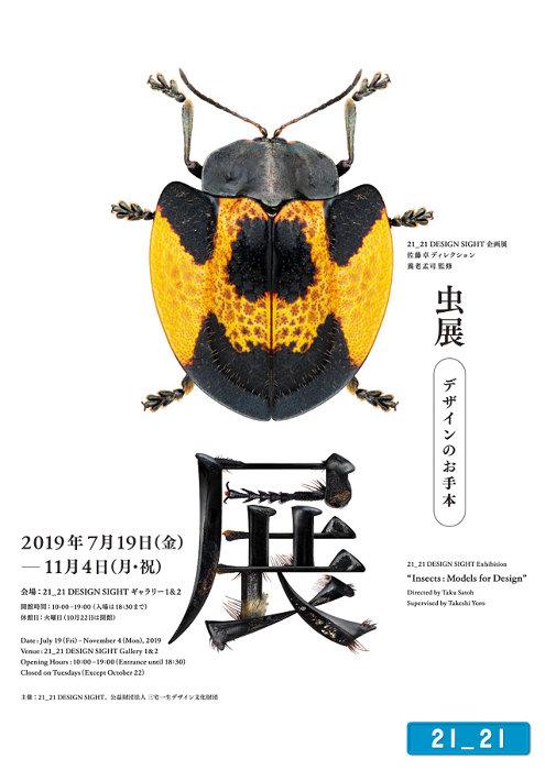 『虫展 -デザインのお手本-』メインビジュアル