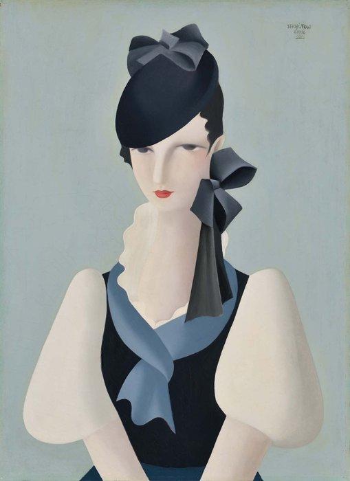 東郷青児『婦人像』1936年 油彩・キャンヴァス 73.3×53.5cm